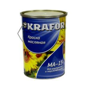 """КРАСКА МА-15 (7,0 КГ) СИНЯЯ """"KRAFOR"""""""