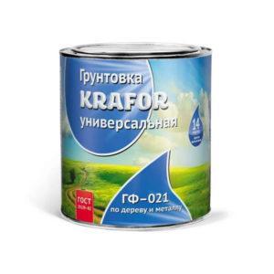 "ГРУНТ ГФ-021 КРАСНО-КОРИЧ. ( 2,7 КГ) ""KRAFOR"""