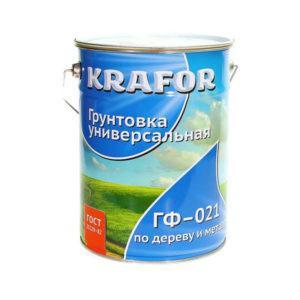 """ГРУНТ ГФ-021 СЕРЫЙ ( 6,0 КГ) """"KRAFOR"""""""
