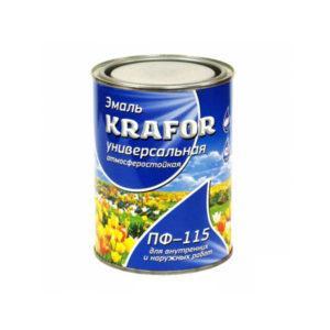 """ЭМАЛЬ ПФ-115 (0,8 КГ) ВИШНЕВАЯ """"KRAFOR"""""""