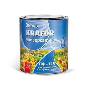 """ЭМАЛЬ ПФ-115 (1,8 КГ)  СВЕТЛО-ГОЛУБАЯ """"KRAFOR"""""""