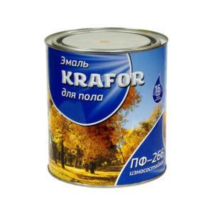 "ЭМАЛЬ ПФ-266 (2,7 КГ) ЖЕЛТ.-КОРИЧ. ""KRAFOR"""