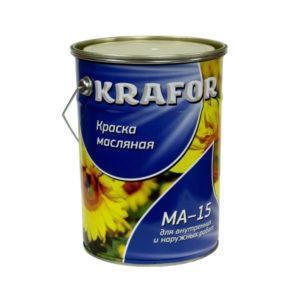 """КРАСКА МА-15 (7,0 КГ) ЖЕЛТАЯ """"KRAFOR"""""""