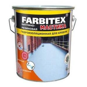 "МАСТИКА битумно-резиновая для кровли (17,0кг) ""FARBITEX"""