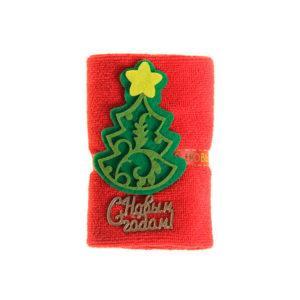 Полотенце сувенирное Collorista 20х20 см красное, микрофибра