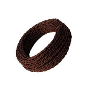 "Ретро провод ""Эко"" 3х1,5 витой ГОСТ коричневый  TDM  (SQ2801-0123)"