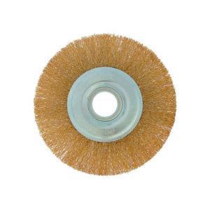 КОРЩЕТКА дисковая прямая d=22,2мм 150мм (латунированная волнистая проволока)