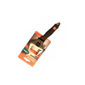 Ключ разводной 300 мм,УСИЛЕННЫЕ ТОНКИЕ ГУБКИ, обрезин. рукоятка, СОЮЗ (1045-27-300С)