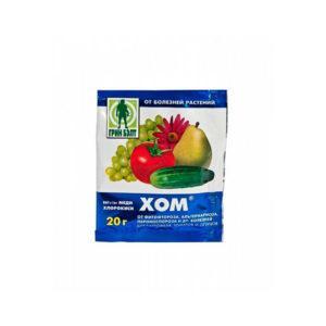 """Средство от болезней растений """"ХОМ"""" (оксихлорид меди) 40гр."""