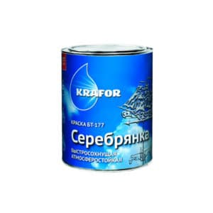 """КРАСКА БТ-177 (0,5 Л) СЕРЕБРЯНКА """"KRAFOR"""""""