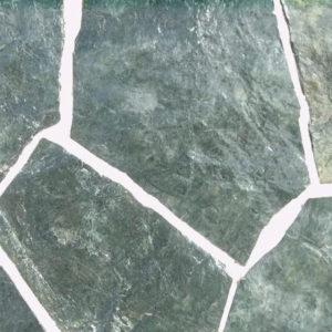 ПРИРОДНЫЙ КАМЕНЬ (плитняк зеленый рваный) 3см