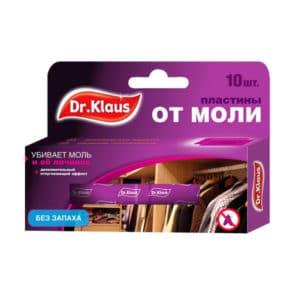 "СРЕДСТВО от моли (антимоль) ""Dr. Klaus"" пластина без запаха (10шт) ""Гера"""