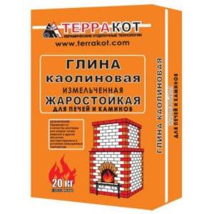 """ГЛИНА каолиновая """"Терракот"""" жаростойкая 20кг"""
