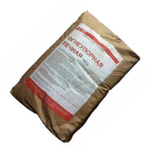 СМЕСЬ печная огнеупорная 3 кг для красного кирп. (t кладки до +1750)